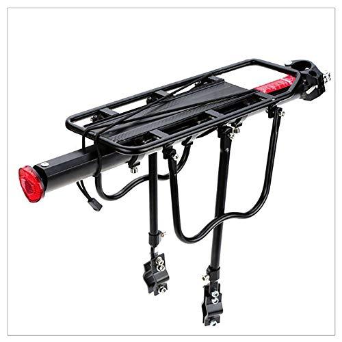 jooe Adjustable Bicycle Rear Rack, Aluminum Alloy Bike Luggage Cargo Rack, Bicycle Carrier Racks, 50kg Capacity