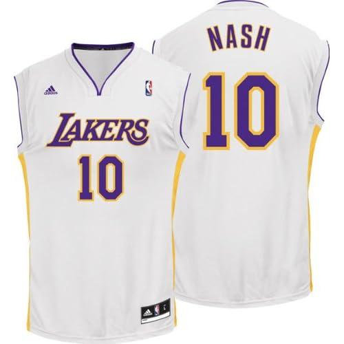 f106a37e2c3 Steve Nash Los Angeles Lakers White Replica Jersey