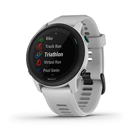 Garmin Forerunner 745, GPS Running Watch, Detailed Training Stats and On-Device Workouts, Essential Smartwatch Functions, Whitestone