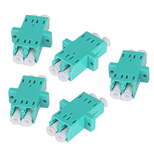 UKCOCO Adaptador de Cable de Fibra óptica, 5 Piezas LC Hembra a LC Hembra Acoplador de Fibra LC-LC Conector convertidor dúplex para OM3 / OM4