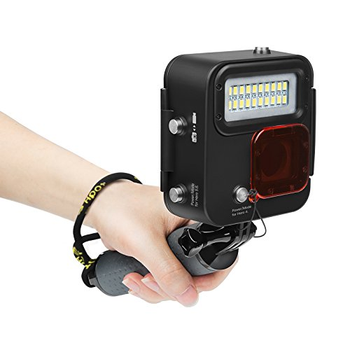 SHOOT 1000LM Video Luz LED Lámpara Impermeable con Filtro para GoPro Hero 7 Black (2018)/Hero 6/Hero 5/Hero 4 Cámara Deportiva