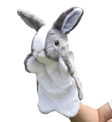Black Temptation 12 Animales del Zodiaco títere de Mano a Mano Juguetes de los niños de la marioneta [Conejo]