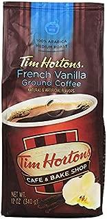 Tim Hortons French Vanilla Ground Coffee 2-12oz. Bags