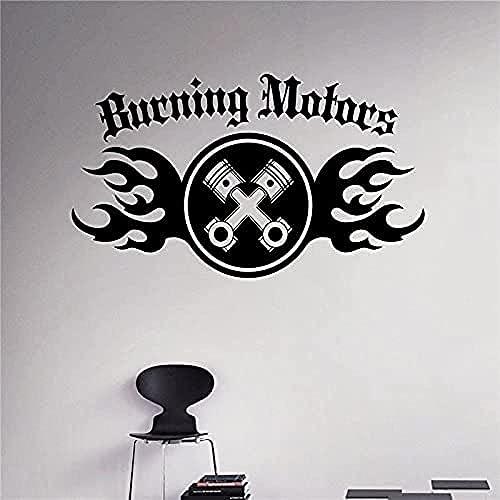 wwccy pegatina coche ardiente autoadhesivo vinilo pared pegatina interior hogar garaje decoración decoración desmontable pared arte calcomanía 70x120cm