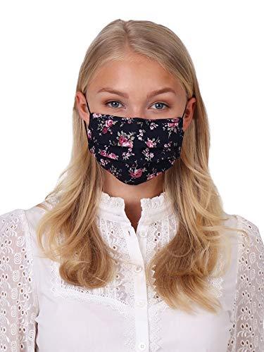 Krüger Waschbare Mund-Nasen-Maske Behelfsmaske aus 100% Baumwolle als ideale Stoff-Mundbedeckung, Art.-Nr. 001211-0-0833, OneSize, blau