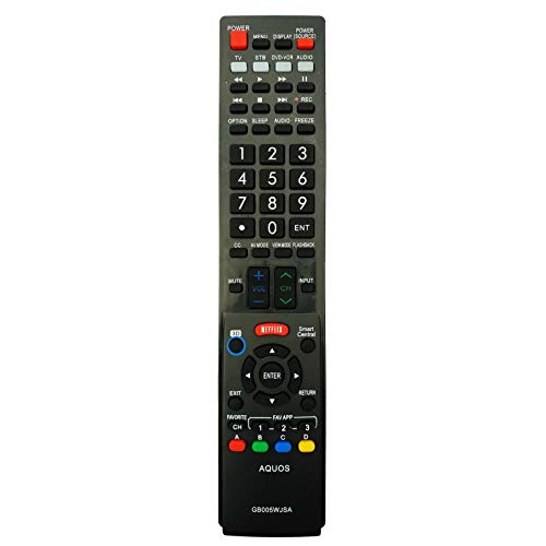 Yantai vervangende afstandsbediening GB005WJSA voor SHARP GB005WJSA AQUOS 3D netflix LC-40LE700 LC-42LE540 LC-46LE830 LC-60LE750 LC-70LE640 LC-60LE831 LC-52LE925 LC-40LE835