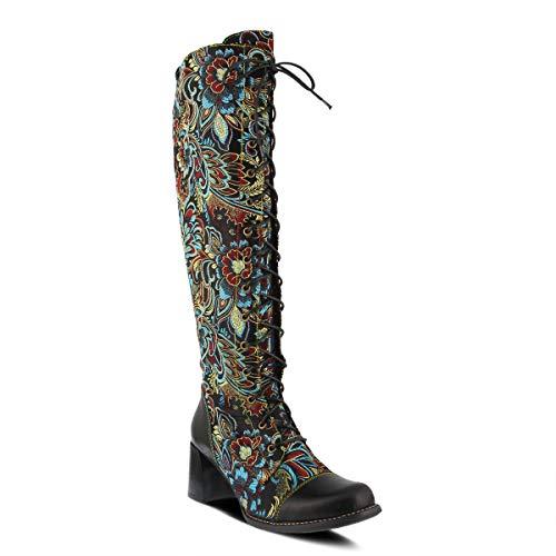 L'Artiste by Spring Step Women's Rarity Fashion Boot, Black Multi, 8.5