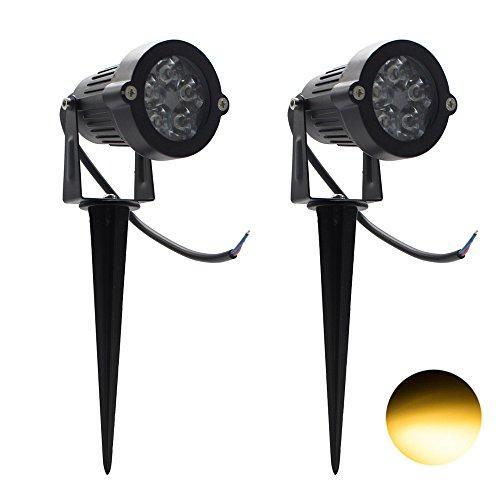 2 Packs, 5W LED Impermeable IP65, Luz Paisaje Aire