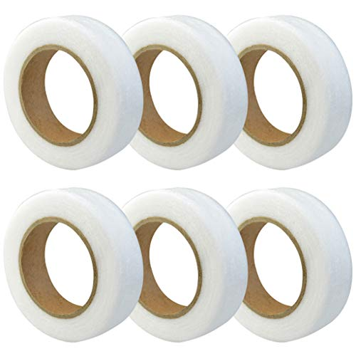 Marrywindix 6 Packs 0.8 Inch Fabric Fusing Tape Adhesive Hem Tape Iron-on Tape (27 Yards/Roll)