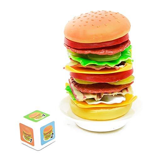 Maxiaoyun Brain Game for Jungen Mädchen Geschenk Stacking Hamburger frühe pädagogische Kleinkinder Spielzeug-Baby-Spielzeug-Set Perfekter Geburtstag und Souvenirs für Kinder