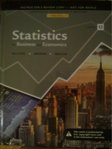 Statistics For Business And Economics (Annotated Instructor Edition)