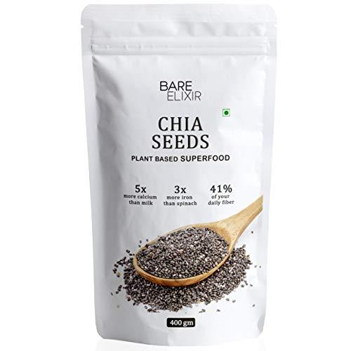 Bare Elixir organic chia seeds for eating (400 gm)
