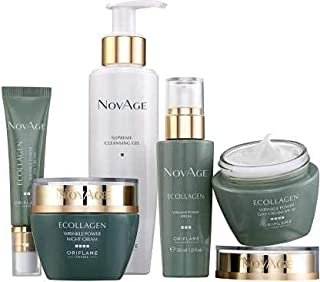 Oriflame Nov-Age Ecollagen Set for Wrinkles Skin and Anti Aging Solution Kit for Men and Women