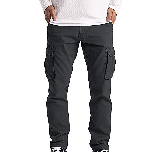 N\P Pantalones de los hombres Monos Multi-Bolsillo Pantalones Completos Al Aire Libre Senderismo Pantalones Tácticos