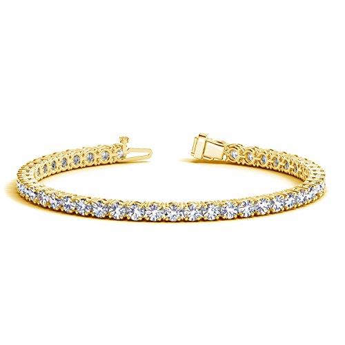 3 Carat Classic Diamond Tennis Bracelet 14K Yellow Gold Premium Collection