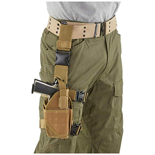 CACTUS JACK Drop Leg Holster, Right Hand, Coyote Tan