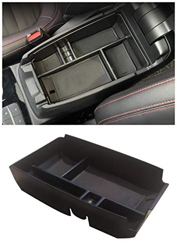 Cosilee Central Armrest Storage Box Secondary Storage Center Console Organizer Compatible for Ford Escape 2020