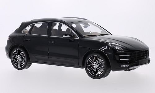 Porsche Macan Turbo, metallic-schwarz, 2013, Modellauto, Fertigmodell, Minichamps 1:18