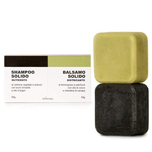 Shampoo Solido Bio e Balsamo - Enooso - 100%...