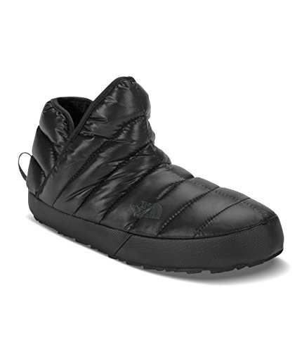 The North Face Women's Thermoball Traction Bootie, Shiny TNF Black & Beluga Grey, 7