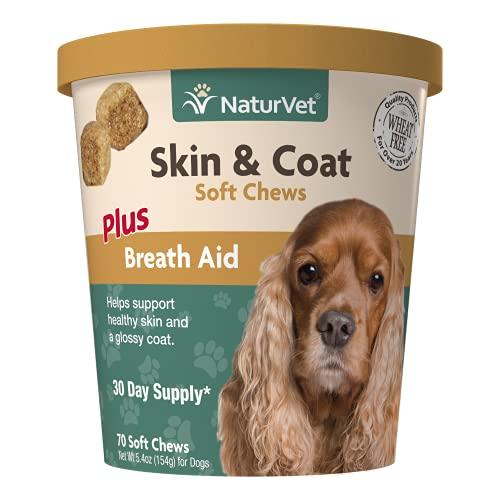 NaturVet – Skin & Coat Plus Breath Aid for Dogs...
