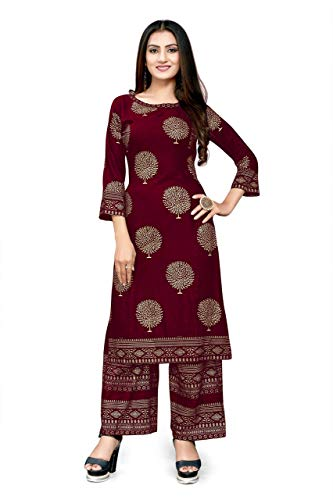 Fashion SAY Women's Rayon Multiple Kurtis & Palazzo (Multicolor) – P (Select Size Below for Each Product Descriptions)