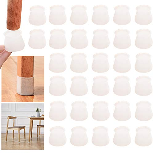 32 Pieces Silicone Chair Leg Caps,Furniture Feet Pads,Chair Leg Caps Tables And Chairs Foot Floor Protectors,Table Feet Covers For Round Legs Living Room Floor Protection