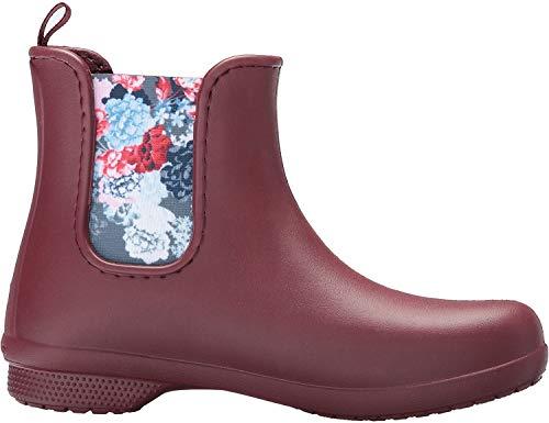 Crocs Freesail Chelsea Boot Women, Damen Gummistiefel, Braun (Garnet), 37/38 EU