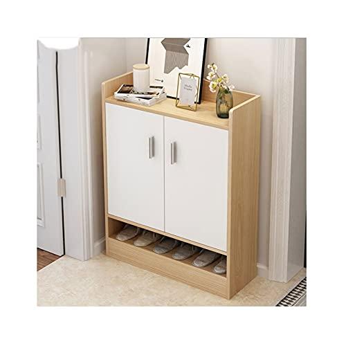 LYLY Zapatero de 4 niveles para zapatos de pie, estante de madera, organizador de almacenamiento para zapatos de entrada, pasillo (color: A, tamaño: 90 cm)