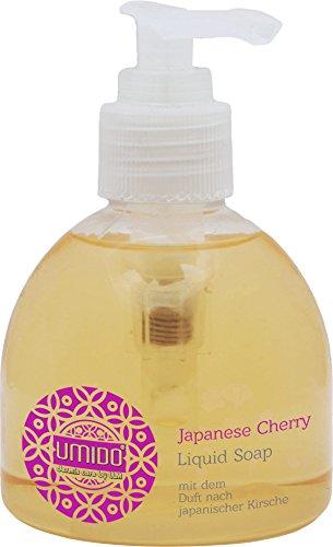 1x UMIDO Flüssigseife Spender 150 ml Japanische Kirsche | Händewaschen | Seife aus dem Pumpspender | Handseife für Pflege & Hygiene | Pflegeseife | Handwaschseife