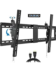 """JUSTSTONE TV Wall Mount TV Bracket for Most 40-90 Inch Flat Screen Curved TVs, Tilt TV Mount with Max VESA 800x400mm, Hold up to 165 lbs, Fits 16"""" to 24"""" Wood Studs"""