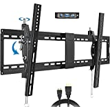 Tilting TV Wall Mount Bracket with VESA 800x400mm for Most 40-90 Inch LED,Plasma Flat Screen Curved TVs, JUSTSTONE Low Profile Tilt TV Mount Fits 16' to 24' Wood Studs, Hold up to 165 lbs