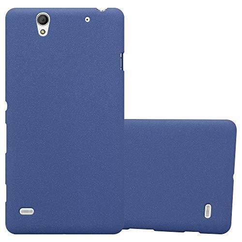 Cadorabo Funda para Sony Xperia C4 en Frost Azul Oscuro - Cubierta Proteccíon de Silicona TPU Delgada e Flexible con Antichoque - Gel Case Cover Carcasa Ligera