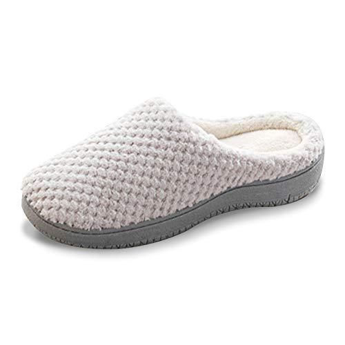gracosy Pantofole Donna pelose Pantofole Invernali Chiuse Casa Uomo Home Morbido Antiscivolo Cotone Scarpe Caldo Peluche Memory Foam Ciabatte da Coppia