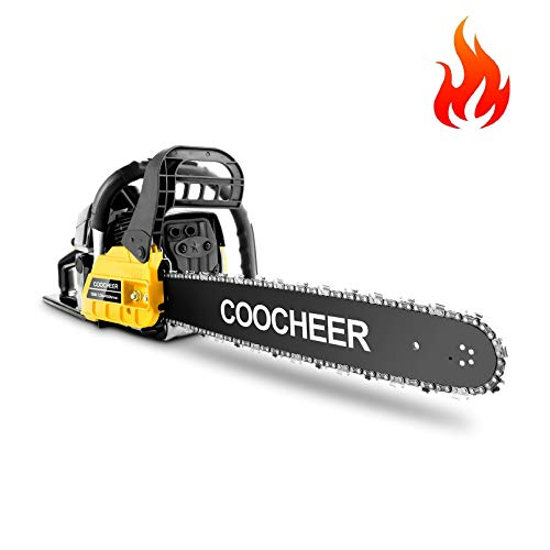 COOCHEER 62CC Gas Powered Chainsaw, Full Crank 2...