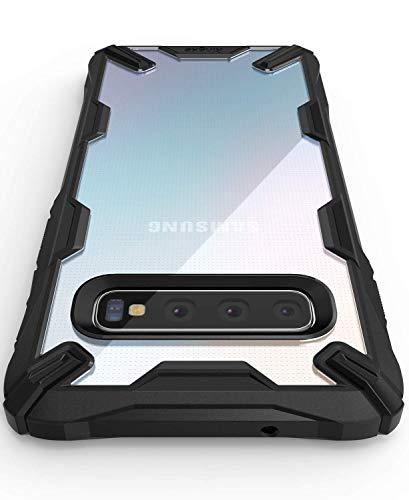"""Ringke Fusion-X Compatibile con Cover Samsung Galaxy S10 Plus 6.4"""" Custodia Antiurto con Paraurti TPU - Black Nera"""