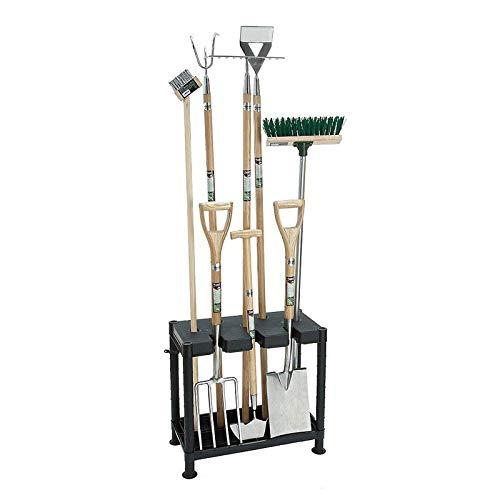 AMOS Self Assembly Garden Tool Tidy 60 x 30cm 2 Shelf Unit Shed Garage Spades Forks Rakes Organiser Storage