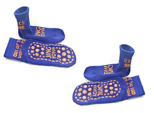 TUKA 2 Pares Calcetines Antideslizantes para niños niñas 2