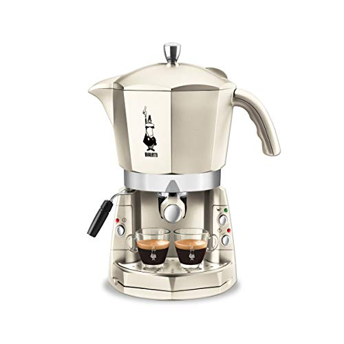 Bialetti Mokona Kaffeemaschine, offenes System weiß Bianco