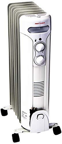HeatWave Hr1507-Zcr Calefactor Radiador Relleno de Aceite, 3 Niveles, Contemporary, Color Blanco, 28 x 25 x 64 cm
