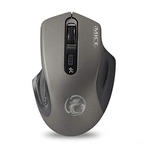 Ratones Ratón Inalámbrico para Juegos, Ratones de Ordenador LED Ergonómicos USB de 2,4 GHz, 3 dpi Ajustables, 4 Botones, Compatible con PC, Laptop, Notebook, Desktop Mouse (Color : Gray)