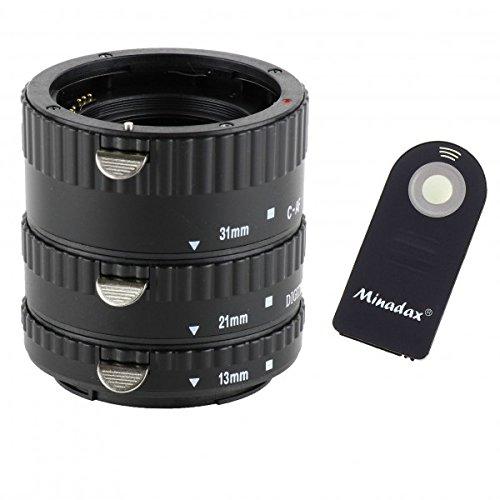 Impulsfoto Automatik Zwischenringe 3-teilig 31mm, 21mm & 13mm Fuer Makrofotographie passend zu Canon EF/EF-S + Infrarot Auslöser