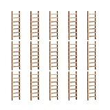 Holibanna 15 Pcs Casa de Muñecas Escalera de Madera en Miniatura Escalera de Juguete DIY Jardín de Hadas Escalera Recta Micro Paisaje Accesorio para Jardín de Hadas Maceta Decoración