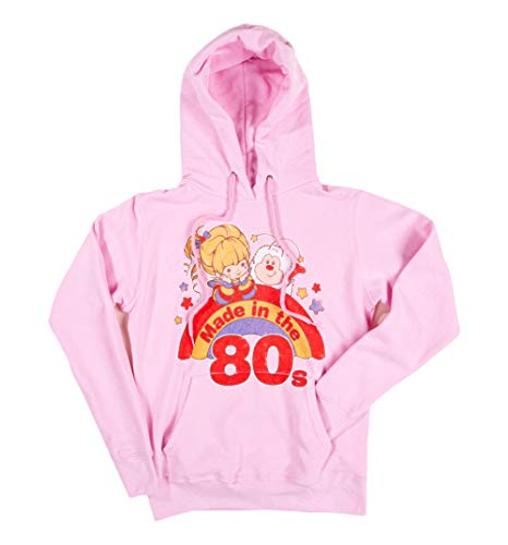 Official Made in the 80s Rainbow Brite Pink Hoodie for Women