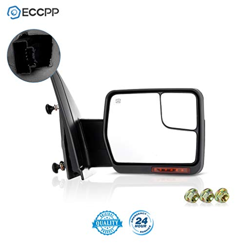 ECCPP Passenger Side View Mirror Replacement fit for 2004-2014 for Ford F-150 Power Heated Chrome Puddle Signal Light