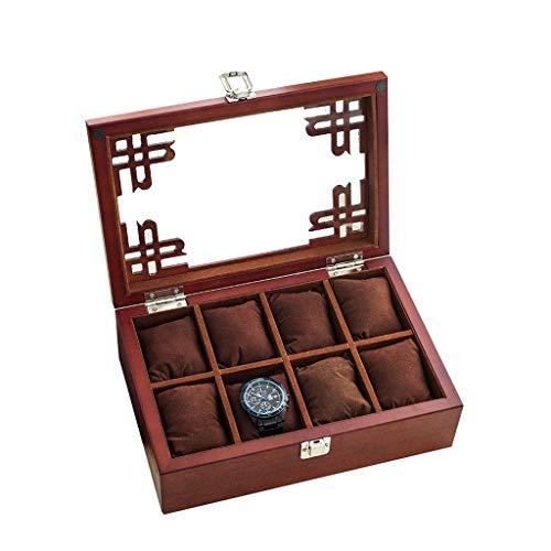 WYZQ Caja de música navideña, joyero Caja de Reloj de Madera Maciza Caja de Almacenamiento Caja de colección de Relojes de Madera Maciza Pura Caja de presentación de Madera con Cerradura