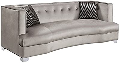 Amazon.com: Versace Beige Leather Sectional Sofa in ...