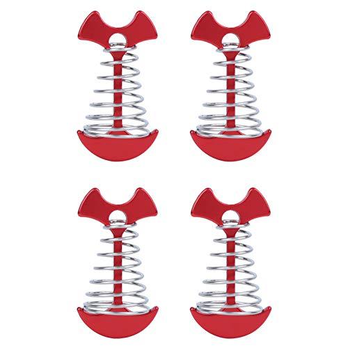 KUIDAMOS Clavijas de Anclaje de Tierra portátiles duraderas de 4 Piezas para Clavijas de fijación de fijación de Tierra de Acampada