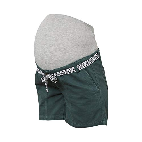 Mamalicious Mlcancun Belted Twill Shorts A. Pantaloncini Premaman, Verde Dark Forest, 48 (Taglia Produttore: X-Large) Donna