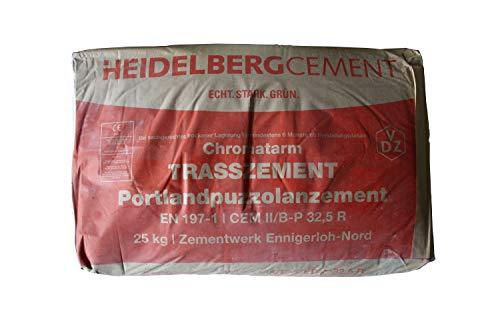 Heidelberger/Spenner Tubag Portland Kalkstein Trasszement 25 Kg Sack Made in Germany